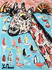 Sale 8968A - Lot 5009 - Yosi Messiah (1964 - ) - My Colourful Harbour 100 x 75 cm