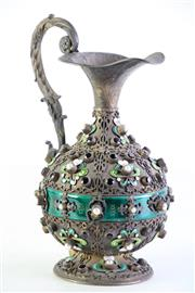 Sale 8972 - Lot 1 - A Fine Decorative Hungarian Silver Gilt Ewer (H 23.5cm)