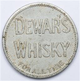 Sale 9164 - Lot 270 - A Scottish Dewars Whiskey calendar coin, for years 1904 - 1925