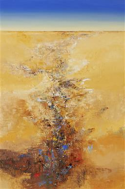 Sale 9180A - Lot 5040 - DAVID MIDDLEBROOK (1967 - ) Desert Field II oil on canvas 182 x 121 cm (frame: 194 x 133 x 4 cm) signed lower right