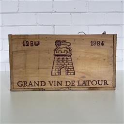 Sale 9257W - Lot 974 - French Timber Wine Box for 1984 Chateau Latour