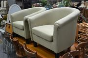 Sale 8054 - Lot 1052 - Pair of Tub Chairs