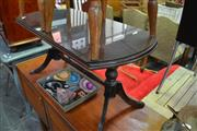 Sale 8066 - Lot 1089 - Regency Style Coffee Table with Glass Top