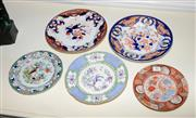 Sale 8098A - Lot 82 - A Group of five decorative porcelain plates in the oriental taste.