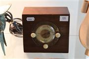 Sale 8098 - Lot 66 - Golden Voice Timber Electric Clock with Key