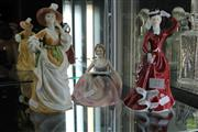 Sale 8226 - Lot 27 - Francesca Art China Figures Sarah, Samantha & Lavinia