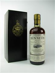 Sale 8329 - Lot 527 - 1x 2002 Ben Nevis Distillery 12YO Single White Port Cask Highland Single Malt Scotch Whisky - bottle no. 638/684, 56.3% ABV, 700ml i...