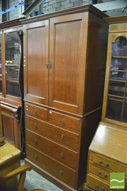 Sale 8390 - Lot 1057 - Early 20th Century Maple Press on Chest, enclosing slides & five drawers, stamped Beard Watson to the drawer.