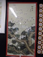 Sale 8441T - Lot 2086 - Large Framed Chinese Painting
