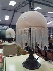 Sale 8593 - Lot 1038 - Pair of Glass Table Lamps