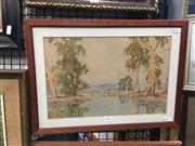 Sale 8711 - Lot 2029 - Andrew Park - River Scene watercolour, 36 x 48cm, signed lower left