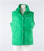 Sale 8760F - Lot 121 - A  Columbia green puffer vest/gilet, size large