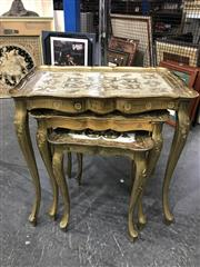 Sale 8787 - Lot 1017 - Nest of 3 Florentine Style Gilt Side Tables