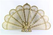 Sale 8860 - Lot 1 - Brass Peacock Fire Screen (H54cm W86cm)