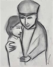 Sale 8113A - Lot 63 - Robert Dickerson (1924 - ) - Consoling 38 x 30.5cm
