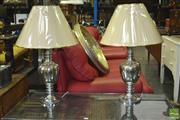 Sale 8312 - Lot 1037 - Pair of Silver and Gold Table Lamps (5785)