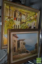 Sale 8537 - Lot 2121 - Artists Unknown (2 works), Oil Paintings, various sizes, each signed