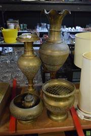 Sale 8563T - Lot 2520 - Collection of Brassware incl Vases