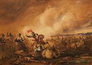 Sale 8624A - Lot 5055 - Attributed to Henry Martens - Battle Scene 17.5 x 25.5cm