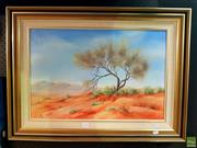 Sale 8645 - Lot 2011 - Sue Coffey - Outback Solitude oil on canvasboard 39.5 x 60cm signed lower left
