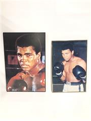 Sale 8733 - Lot 59 - Two large framed posters of Mohammed Ali