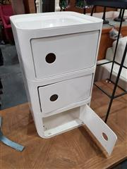 Sale 8745 - Lot 1042 - Kartell Style Side Table with Three Doors
