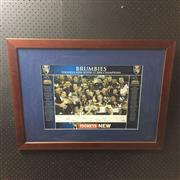 Sale 8805A - Lot 812 - Brumbies Tooheys New Super 12, 2004 Champions, framed