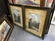 Sale 8910 - Lot 2042 - Percy Campbell (2works) Road Scene, Kangaroo Valley & Manning Road at Morelands oil on artist board, 44 x 27.5 cm each , initial...