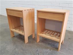 Sale 9108 - Lot 1041 - Pair of modern bedside chests (h:65 x w:45 x d:32cm)