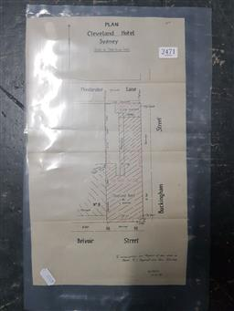 Sale 9152 - Lot 2471 - HJ Aspinall and Sons Cleveland Hotel Property Plan
