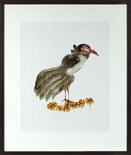 Sale 9190H - Lot 431 - Sidney Nolan Feathers & Flowers, Oil on paper, 74x60cmSigned lower right.