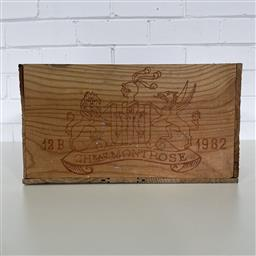 Sale 9257W - Lot 975 - French Timber Wine Box for 1982 Chateau Montrose
