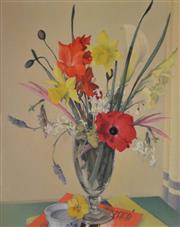 Sale 8000 - Lot 374 - Sidney Woodward-Smith (1904 - 1972) - Floral oil on canvas