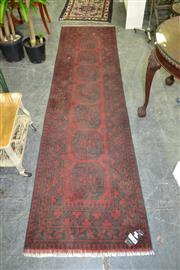 Sale 8115 - Lot 1063A - Afghan Hand Knotted Turkoman Runner (290 x 80cm)