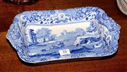 Sale 8127A - Lot 16 - A Copeland Spode Blue and White Serving Tray, C20th,