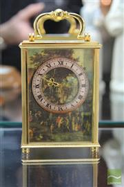 Sale 8226 - Lot 13 - Imhof 16 Jewels Carriage Clock