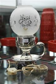 Sale 8283 - Lot 62 - Silver Plated Lamp