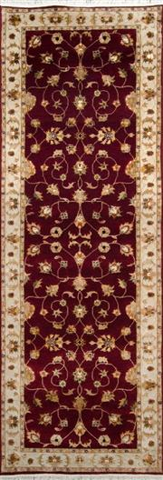 Sale 8323C - Lot 16 - Jaipor Silk & Wool 241cm x 83cm RRP $1800