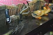 Sale 8326 - Lot 1367 - Metal Australian Lyrebird And Two Timber Ducks
