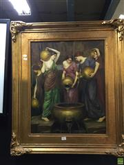 Sale 8648B - Lot 2027 - Artist Unknown - Neo-Classical Water Fountain Scene oil on canvas, 70 x82cm (frame), unsigned