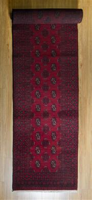 Sale 8693C - Lot 68 - Afghan Turkman Runner 480cm x 88cm