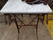 Sale 8740 - Lot 1222 - Marble Top Occasional Table