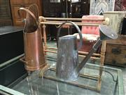 Sale 8782 - Lot 1712 - Copper Coal Scuttle & Watering Can (2)