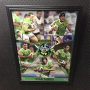Sale 8805A - Lot 863 - Canberra Raiders Star Series, framed