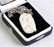 Sale 8940T - Lot 610 - Ivory Pendant Necklace