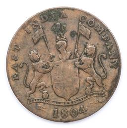 Sale 9164 - Lot 148 - A Colonial Indian copper coin c1804, Bombay Presidency