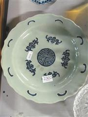 Sale 8098 - Lot 84 - Late Qing Chinese Blue & White Lotus Shape Plate