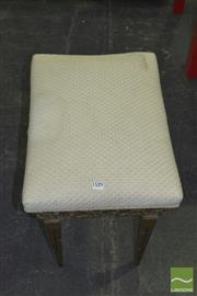 Sale 8331 - Lot 1529 - Cream Upholstered Top Stool on Gilded Base