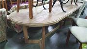Sale 8347 - Lot 1049 - Recycled Elm Y-Leg Dining Table (H 78 x L 250 x W 90cm)