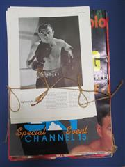 Sale 8419A - Lot 55 - Boxing Programmes - a box crammed with issues of 1930s Boxing, newspaper cuttings, many good programmes, and several big Australian...